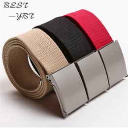 Cotton Webbing Belts Australia - 11 Colors New Candy Colors Men Women Unisex Boys Plain Webbing Cotton Canvas Metal Buckle Belt Accessories free shipping