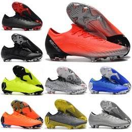 247980300ba New Mens Low Ankle Football Boots CR7 Mercurial Vapors XII VII 360 Elite FG  Soccer Shoes Superfly VI Neymar NJR ACC Soccer Cleats