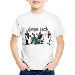 Boys Rock Tees Australia - Fashion Print Heavy Metal Rock Metallica Children T-shirts Kids Summer Short Sleeve Tee Boys Girls Cool Tops Baby Clothes,HKP330