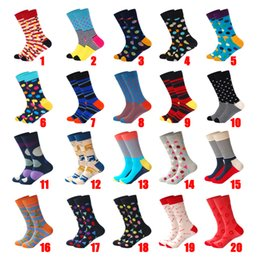 $enCountryForm.capitalKeyWord Australia - LIONZONE New Arrived Brand Desinger Crew Socks Men Women Unisex Classical Lattice Stripe Dot Arrow Christmas Gift Happy Socks Funny