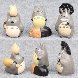 Wholesale Mini Gifts Australia - TOTORO model toys 6pcs a set Hand doll ornaments #525 Popular Toy Gift for kids Free Shipping Mini toys