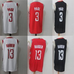 f6d6004d8  3 Chris Rockets Paul  13 James Jersey Harden Men s Basketball Jerseys 2018  New season Fashion Player version Black White Red Men Sport