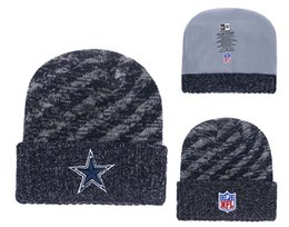Knitted Cloche Australia - Men's Dallas Cowboys New Navy 2018 Sideline Cold Weather Official Sport TD Knit Hat 01