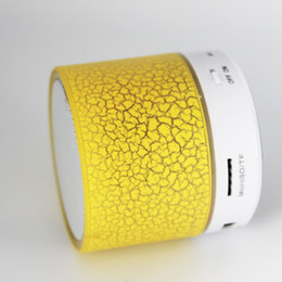 $enCountryForm.capitalKeyWord Australia - Mini portable A9 crackle texture Bluetooth Speaker with LED light can insert U disc cell phone player with retail box new