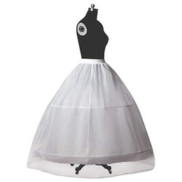 $enCountryForm.capitalKeyWord Australia - Petticoat Bridal Crinoline for Women Wedding Dress A-line Underskirt Full Slip 2 Hoops Floor-length Normal&Plus