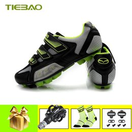 Cycle Pedals Mountain NZ - Tiebao Cycling shoes zapatillas deportivas hombre self-locking Professional Men Women MTB Bicycle mtb pedals mountain bike shoes