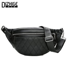 $enCountryForm.capitalKeyWord Australia - fashion DIZHIGE Brand Fashion Women Packs Black PU Leather Fanny Pack Belt Multifunctional Shopping Travel Waist Bag For Phone