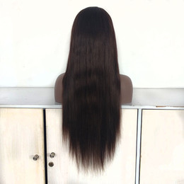 $enCountryForm.capitalKeyWord Australia - whoelsale indian remy hair silk straight full lace wig medium brown color hair lace front wig medium density for women