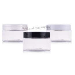 deodorant bottles wholesale UK - 100g X 50 clear empty plastic cream containers jars with screw caps,deodorant containers cosmetic packaging plastic tin bottle