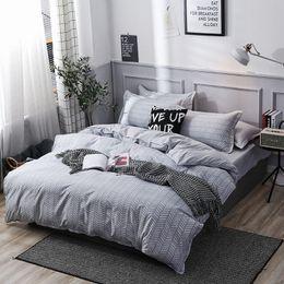 $enCountryForm.capitalKeyWord Australia - Free shipping Gift Nordic Geometric Chevrons Zigzags Pattern Home Dorm Bedding Set Doona Quilt duvet Cover+pillowcase Twin Queen size
