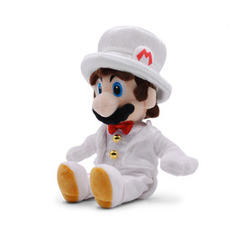 Best movie dresses online shopping - 25cm Sitting full dress Super Mario Plush Stuffed Toy Sitting full dress Super Mario plush toys best gift doll lol