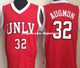 $enCountryForm.capitalKeyWord NZ - University of Nevada Las Vegas 32 Stacey Augmon Jersey Men College UNLV Basketball Jerseys Red White Stitched Hot Sale NCAA