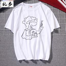 $enCountryForm.capitalKeyWord Australia - Summer 2019 new men's short-sleeved T-shirt simple casual loose round neck comic print cotton t-shirt men's street card