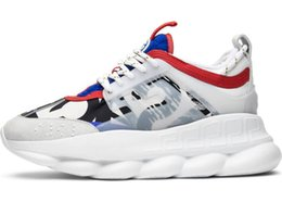 Chinese  2019 Designer Sneakers Chain Reaction Fashion Flat Casual Shoes Trainer Lightweight Link-Embossed Sole With Dust Bag manufacturers