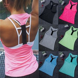 womens running tank top Australia - Hot Womens Summer Sexy Skinny Tops Tanks Casual Daily Clothes Tank Top Sleeveless Gym Sports Running Jogging Wear Xs Xl