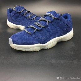 2018 New 11 Low re2pect men basketball shoes 11s jeter blue suede mens  luxury Carbon Fiber sports shoes Limited designer sneaker AV2187-441 7ac80b60fb8f