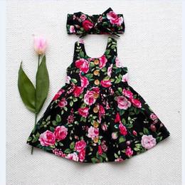 $enCountryForm.capitalKeyWord Australia - Girls summer new dress girls vest dress infant children's floral skirt + hair band