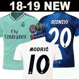 Discount real uniform - New 2019 Real Madrid home Soccer Jersey 18 19 Real Madrid away blue Soccer shirt 2018 MODRIC ASENSIO VINICIUS JR ISCO KR