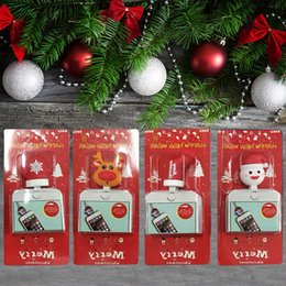 Iphone santa online shopping - Data Line Protector Christmas Lovely Cartoon USB Cable Bite Santa Claus Tree Deer Toys Charger Cord Animals Holder with Retail Box