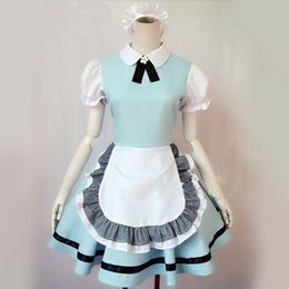 Cosplay Maid Outfits NZ - Alice in wonderland super cute maid outfit aqua blue maid costume cosplay animation costumes costumes costumes, available in blue stock,