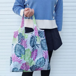 $enCountryForm.capitalKeyWord Australia - Fashion Printing Foldable Green Shopping Bag Reusable Tote Folding Pouch Handbags Convenient Large Capacity Storage Shopper Bags