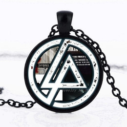 Linkin park pendant online shopping - 2017 Hot Fashion Linkin Park logo Pendant Linkin Park Jewelry Glass Necklace Dome Pendant Men and children party gifts