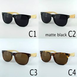 Discount bamboo wood sunglasses men wholesale - Natural Bamboo Sunglasses Unisex Designer Wood Sun Glasses With Plastic Frame Wooden Legs LOGO Engraved Service 4 Colors