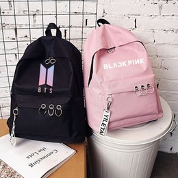 Backpacks Monsta X Got 7 Seventeen Twice Black Backpack Bag Bookbag Travel Laptop Bag Teenager Schoolbag Book Bag Cosplay Xmas Gift