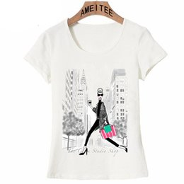 $enCountryForm.capitalKeyWord Australia - Fashion New York As A Backdrop Hot Cup Of Coffee Design Women T-shirt Vintage Print T Shirt Summer Casual Tops Cute Girl Tees Y190123