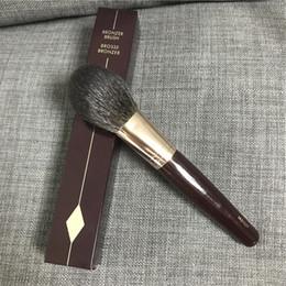 Hair Powders Australia - Brand Bronzer Brush Brosse Bronzer Squirrel Hair & Goat Hair Mix Powder Brush Beauty Makeup Blender Tool Applicatior DHL free