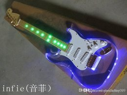 acrylic lighted electric guitar UK - Free shipping new 2014 Transparent acrylic light electric guitar light models guitar
