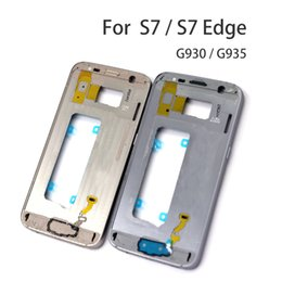 $enCountryForm.capitalKeyWord Australia - For Samsung Galaxy S7 G930F S7 edge G935F Middle Plate Frame Housing Bezel Chassis with all small parts 1pcs