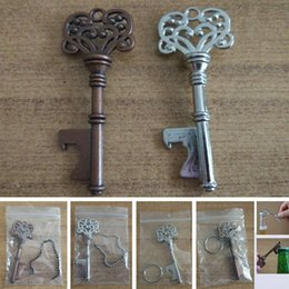 vintage bottle openers wholesale Canada - Vintage Keychain Openers For Beer Bottle Metal Coca Can Opening Tool With Ring And Chain Line Kitchen Bar Tool AN2347