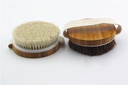 massage bamboo Australia - Natural Horsehair Exfoliation Bath Brush without Handle SPA Massage Body Cleaning Brush Bamboo Shower Brushes WB725