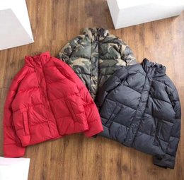 coating service NZ - Men's down jacket loose large size ladies down jacket letter print outwear men's winter outdoor service camouflage black red warm coats QQ7