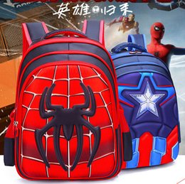 caa884f346 Baby backpack kids backpack Schoolbag Pupil Captain America Spider-Man  Cartoon kids bags Boy Backpack Nylon Waterproof School Bags