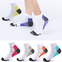 Compression soCks sports online shopping - 2019 High Quality Short Breathable Compression Socks Plantar Fasciitis Ankle Men Women Casual Sports Socks Multicolor Colors G463Q F
