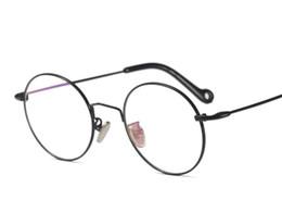 00439b70da Eye frame female retro round Korean version ultra light round face glasses  frame man