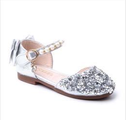 ElEgant flip flops online shopping - Girls sandals spring and summer new children s shoes sequins girls single shoes Korean soft bottom elegant princess