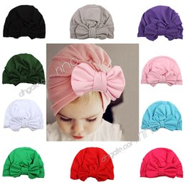 a7d74277 Baby Hats Cotton Newborn Girl Bowknot Beanie Twist Turbans Headbands Wrap  Twisted Knot Soft Hair Band Kids Hats Bow 10 Colors