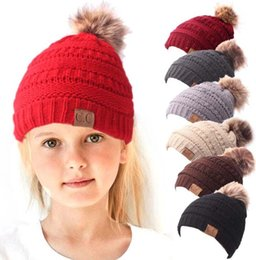 dc623445186e86 Fleece Hats Children Australia - Baby children fleece thick warm beanie hats  Ins crochet hat winter