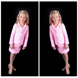 $enCountryForm.capitalKeyWord NZ - 2019 Pink Short Column Custom Girl's Interview Suit V-neck Custom New Beauty Long Sleeves Children's Clothes Little Girl Pageant Suits