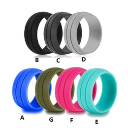 Wide Silicone Band Australia - 8.5 mm Wide Vogue Silicone Sports Ring, Personality Punk Ring