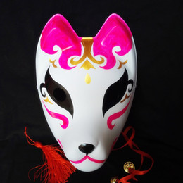 $enCountryForm.capitalKeyWord Australia - Full Face Hand Painted PVC Masks Japanese Style Naruto Hatake Kakashi Cosplay Kitsune Fox Mask Party Props Supplies 12 Styles