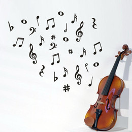 $enCountryForm.capitalKeyWord NZ - Musical Note Wall Sticker Removable Art Vinyl Mural Home Living Room Decor Wall Stickers Drop Shipping