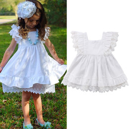 $enCountryForm.capitalKeyWord Australia - Lovely Kids Baby Girls White Lace Dress New 2018 Baby Girls Princess Dresses Fashion Children Party One-pieces Dresses Vestidos