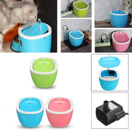 automatic water bottle dispenser 2019 - Automatic Cat Dog Drinking Fountain Electric Pet Water Dispenser Feeder Bottle with Filter Drinking Bowl Pet Supplies ch