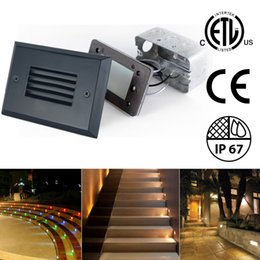 Led outdoor Lighting dc online shopping - Lead Step Lights Outdoor Wall Lamps Deck Stair Path Landscape Light W K V AC V DC