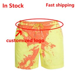 swimwear men slip Canada - 2020 New Amazing Color Changing Swim Trunks Swimwear Swimsuit Slip Men Swimming Shorts for Men's Beach Swim Male Briefs Sexy Gay T200701