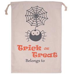 $enCountryForm.capitalKeyWord NZ - Halloween Sacks Halloween Bag Pumpkin Trick Or Treat Bags Canvas Spider Web Party Decorations DIY Event Party Supplies